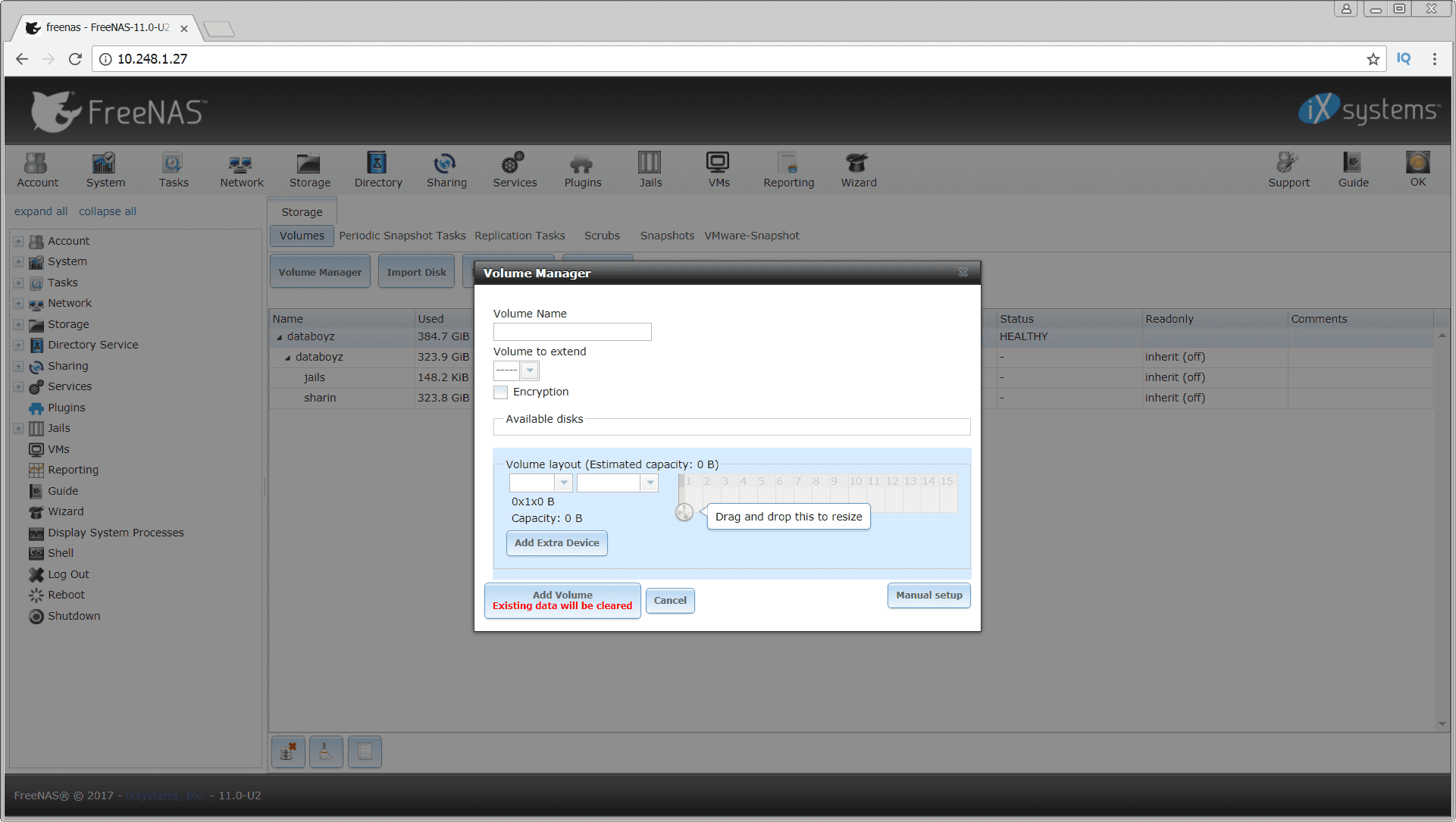 FreeNAS 11 2 releases: free Network Attached Storage (NAS