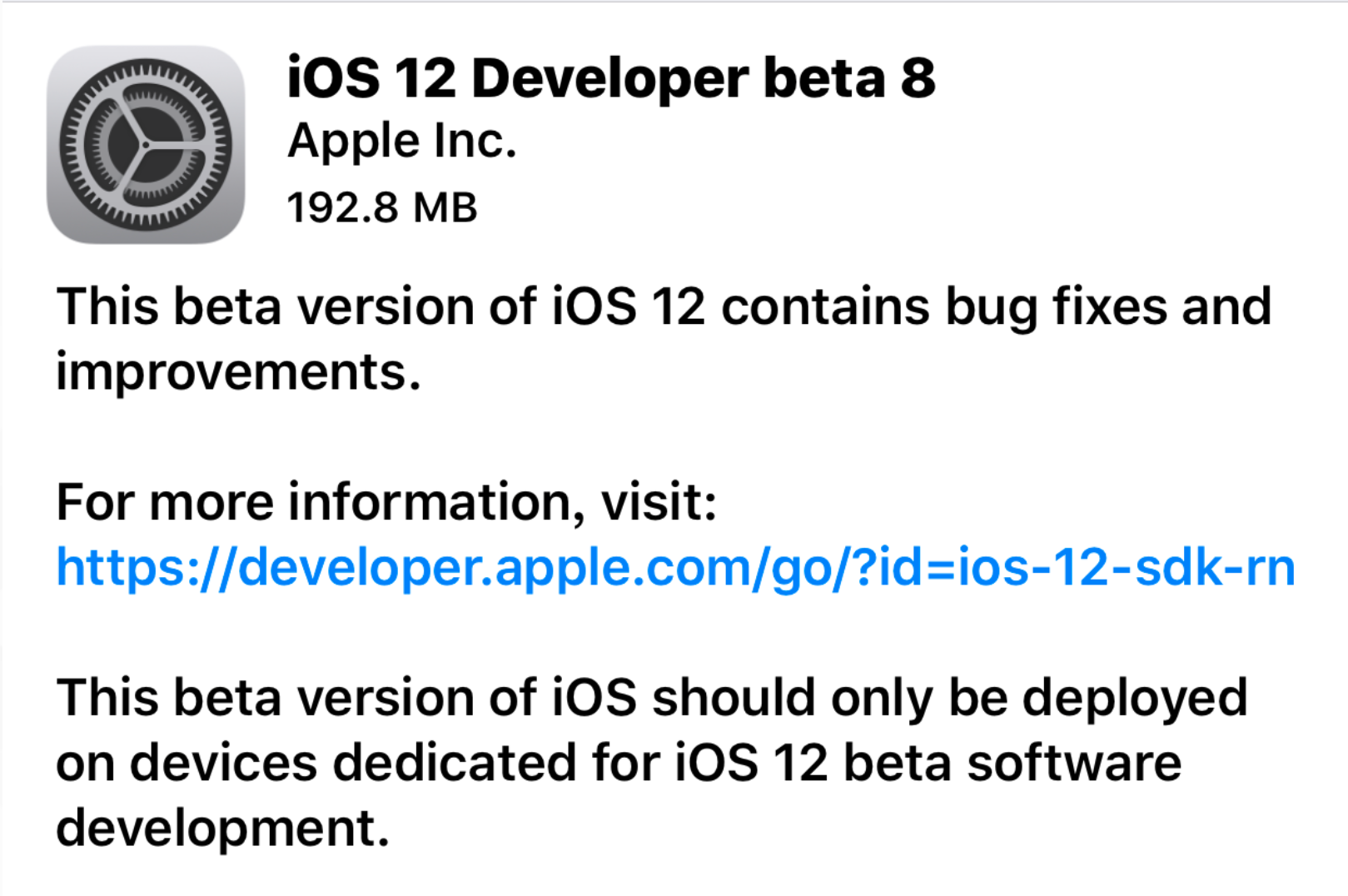 Apple released iOS 12 Public Beta 6