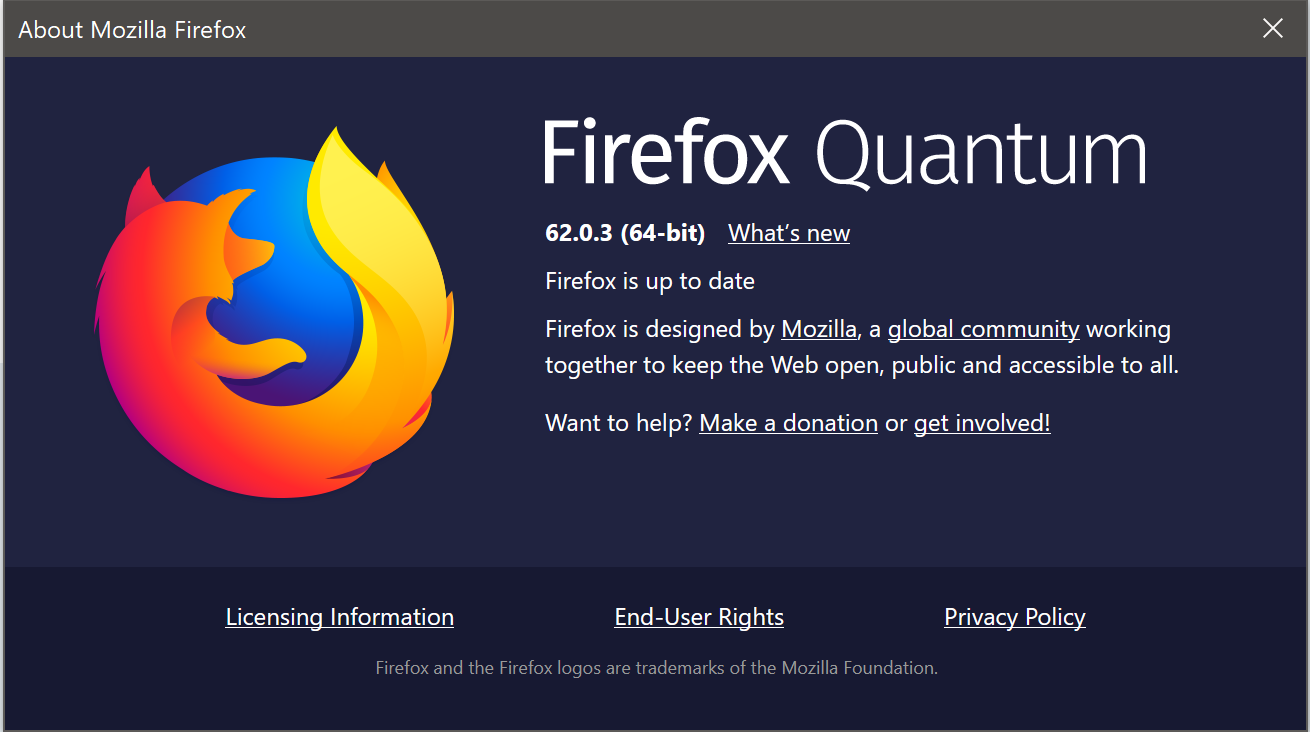 Mozilla Firefox 62 0 3 releases: Fixed hangs on macOS Mojave
