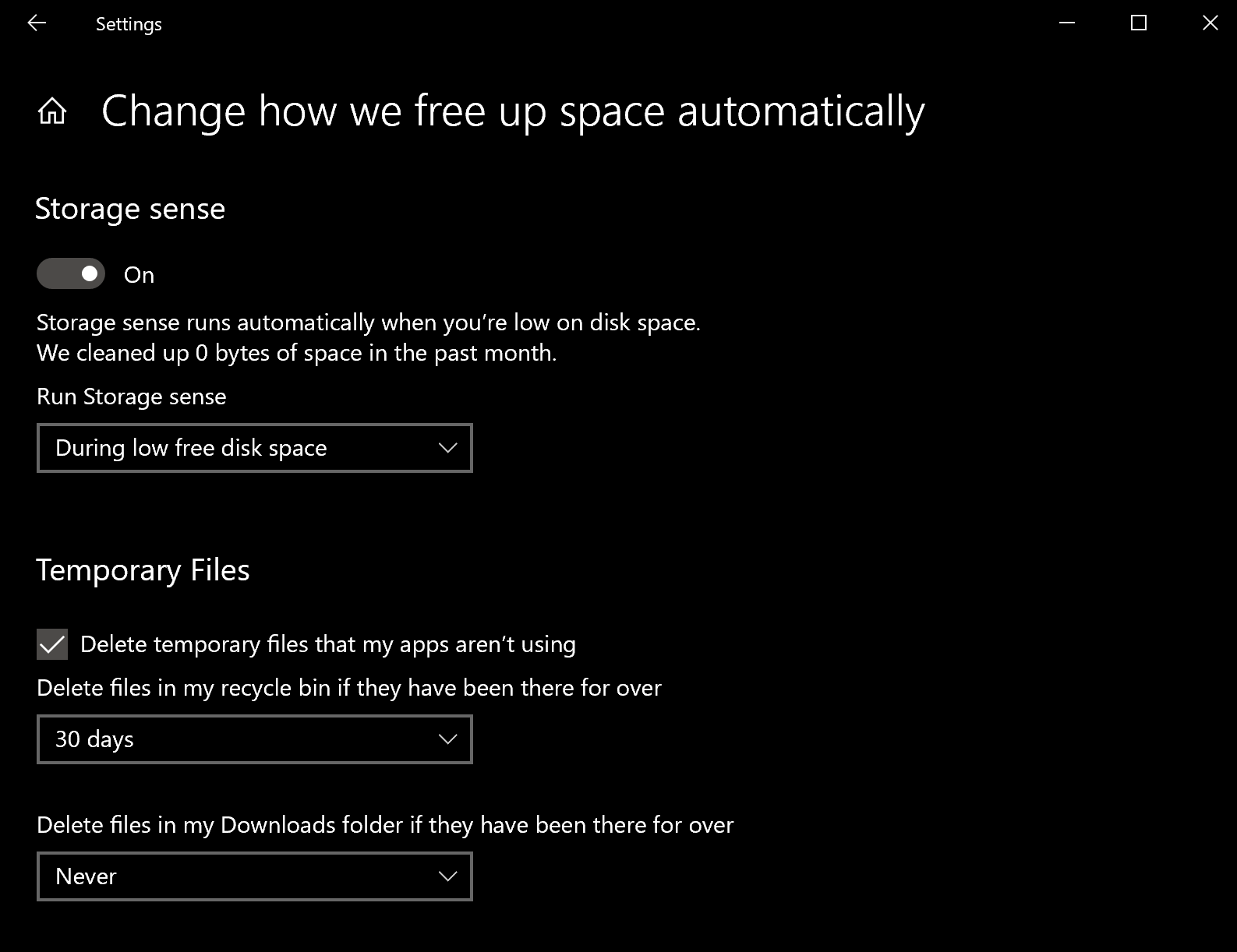 Microsoft will use Storage Sense instead of Disk Cleanup tools