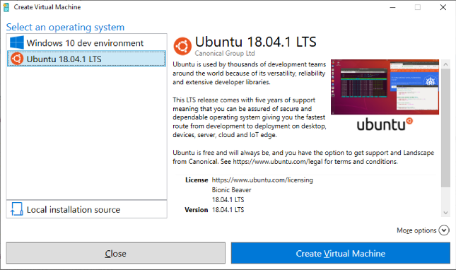 Microsoft and Canonical collaborate to release Ubuntu images for Hyper-V Quick Create