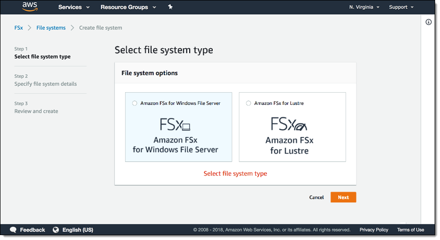 FSx Windows file system