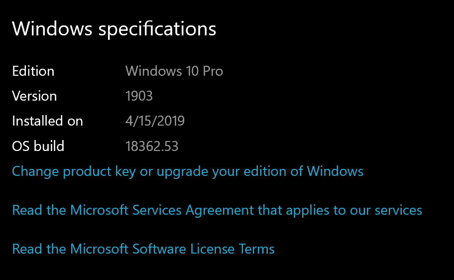 Microsoft has released Windows 10 Version 1903 to the MSDN