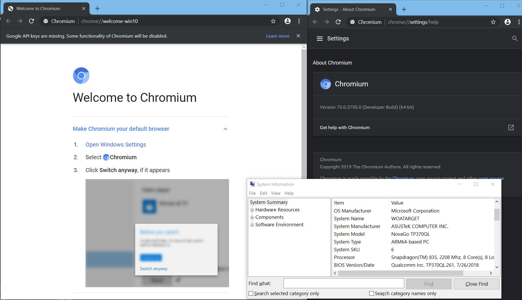 Chromium for Windows ARM