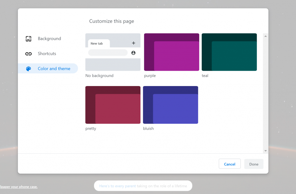 Google Chrome Canary is developing theme and color
