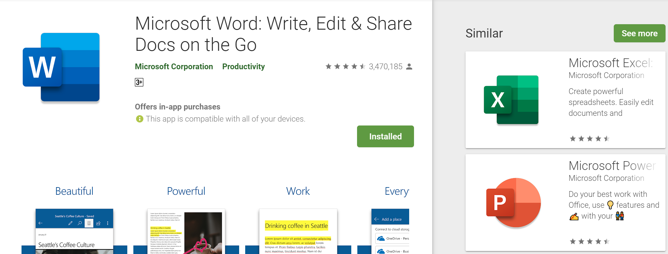 Microsoft rolls out the new icon on Office for Android • InfoTech News