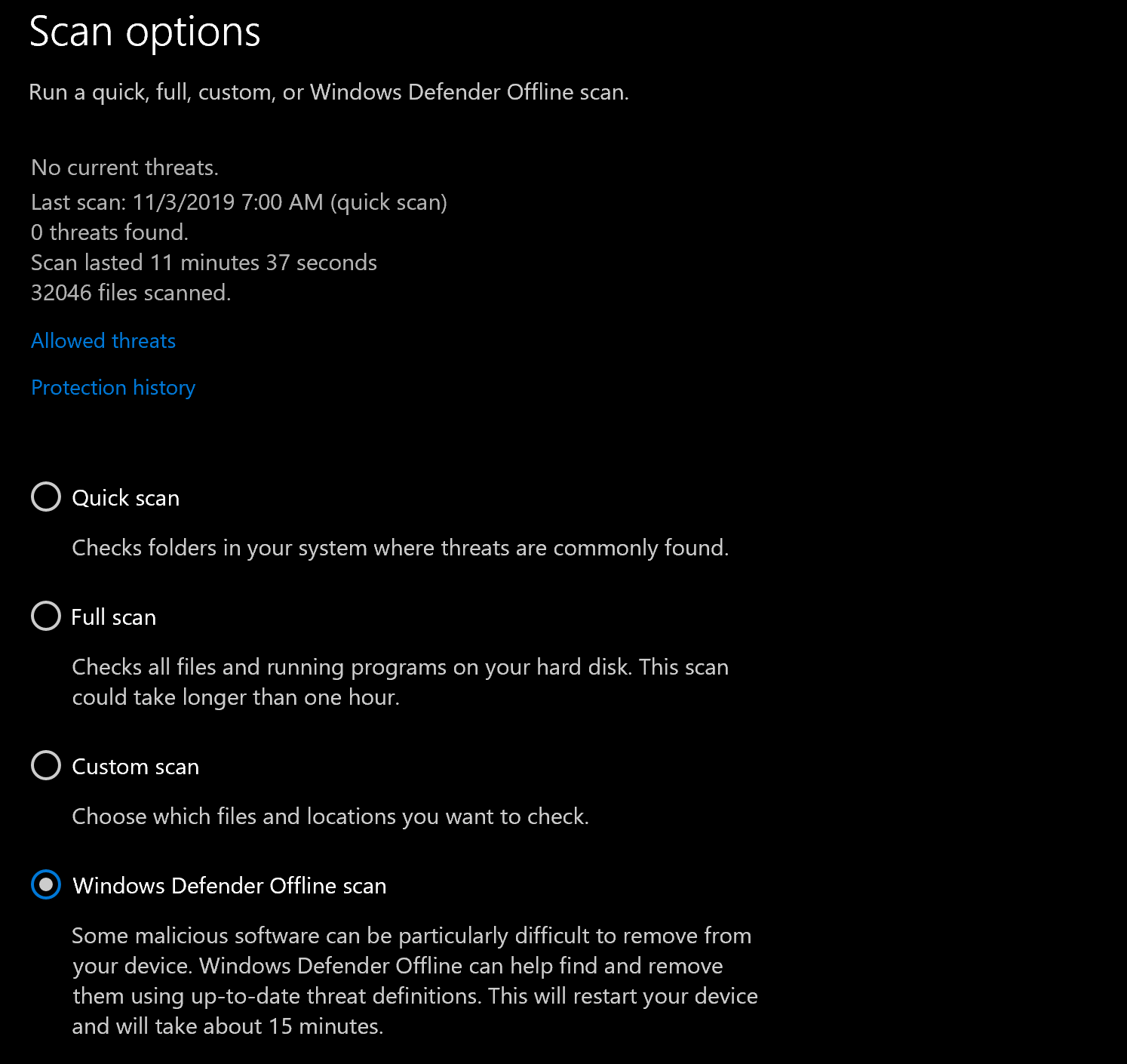 Using Windows Defender Offline To Scan Your Computer