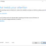 Windows Security prevents users from upgrading Windows 10 version 2004