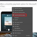 Microsoft Edge adds QR Code for sharing images