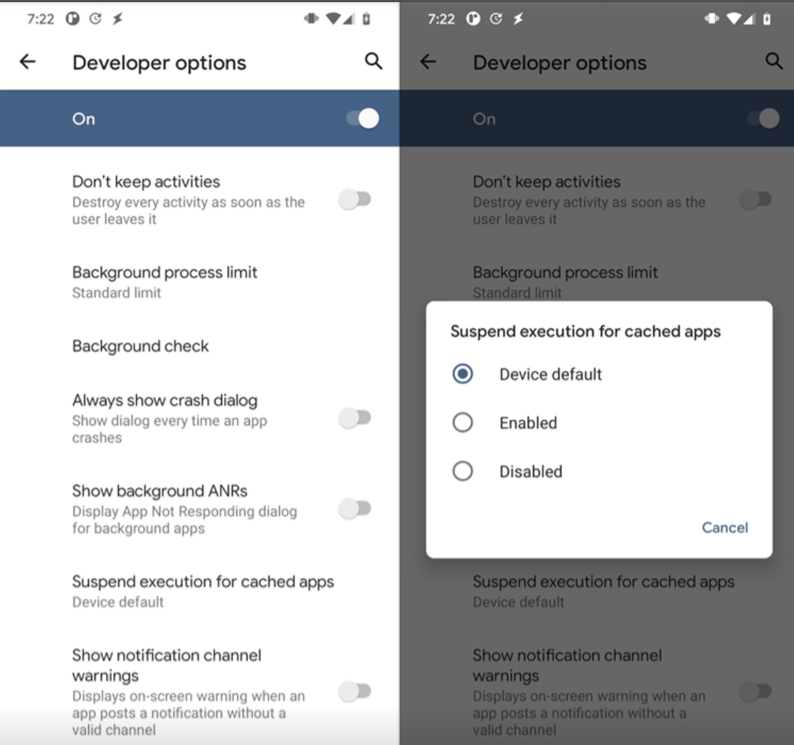 Android 11 to improve battery life by cached apps freezer feature