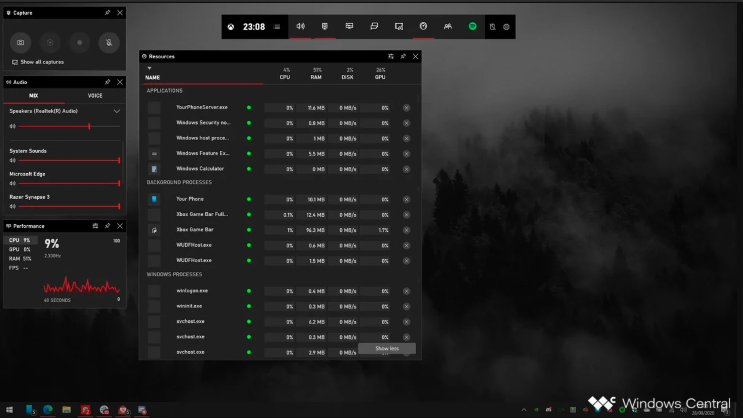 Xbox Game Bar Task Manager