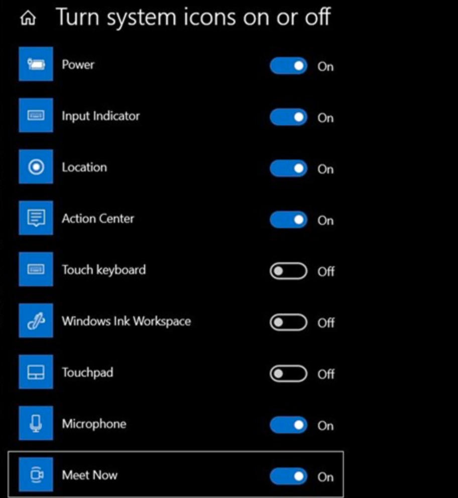 """How to disable the """"Meet Now"""" button on Windows 10"""