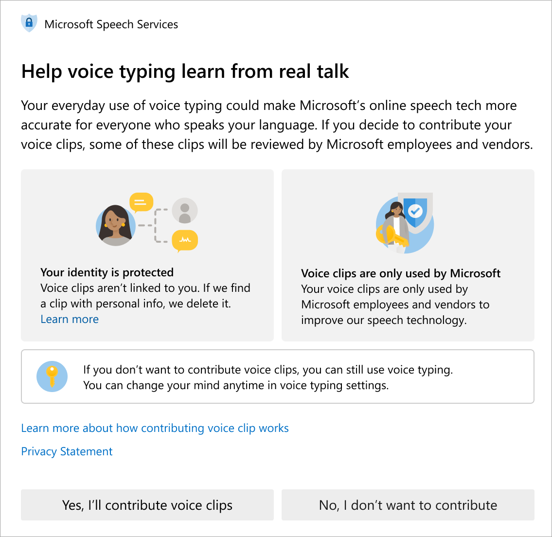 Microsoft updates voice clips policy