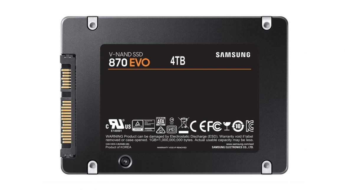 Samsung launched the 870 EVO SSD