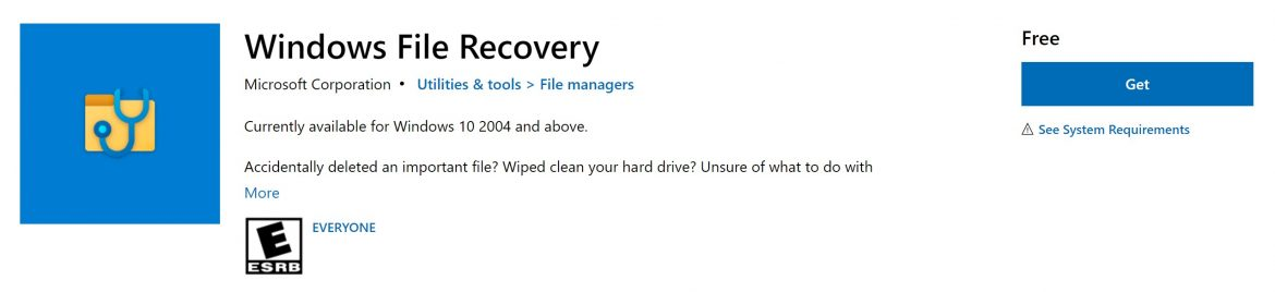 Microsoft improves the Windows File Recovery Tool