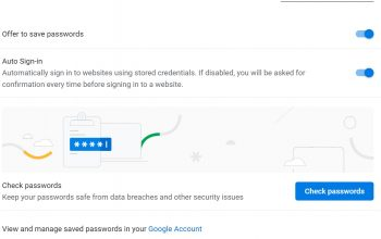 Chrome v88 check weak password
