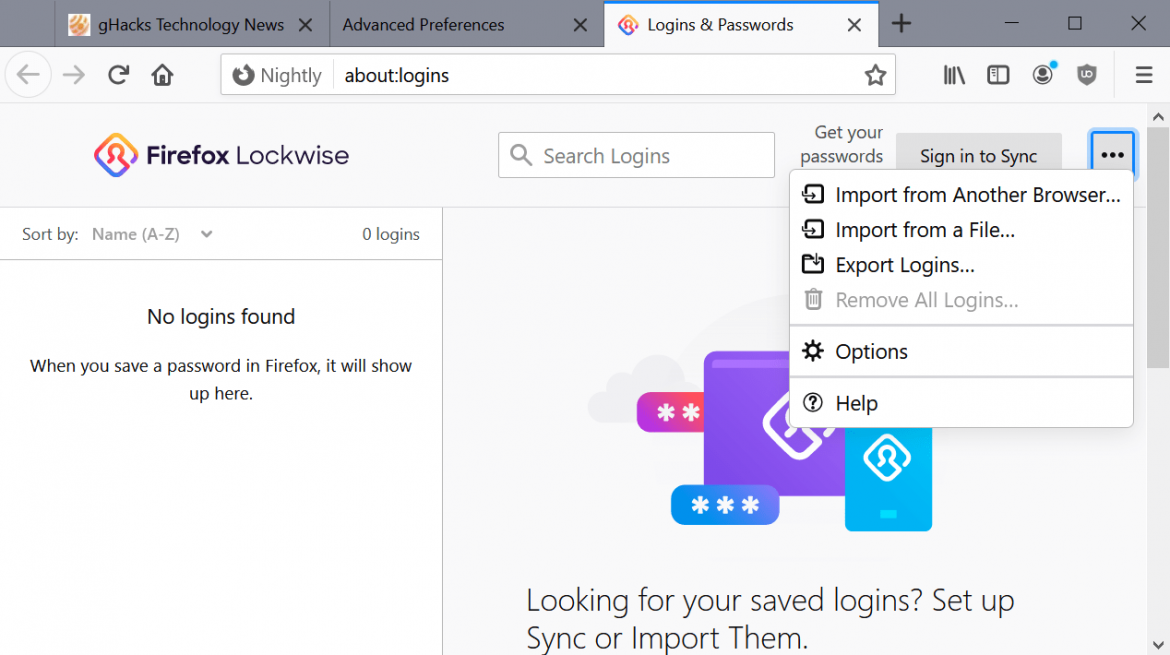 Firefox will support importing from KeePass and Bitwarden passwords